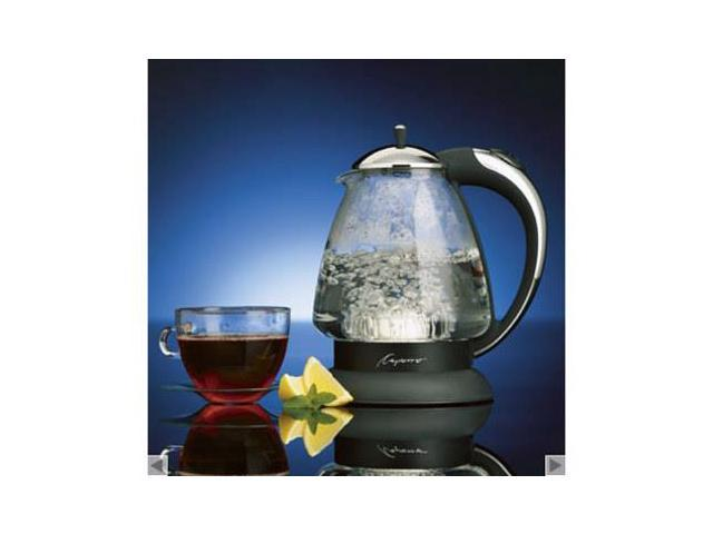 Jura-Capresso 1.5-qt. H20 Plus Glass Water Kettle, Stainless/Black