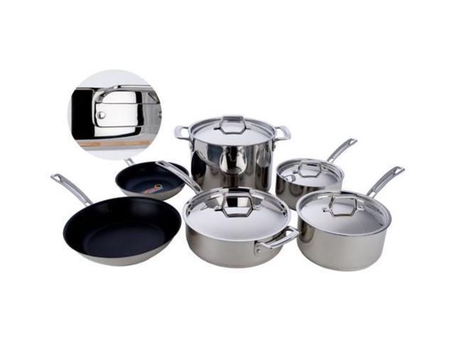 MIU France 10-pc. 5-Ply Copper Core Cookware Set