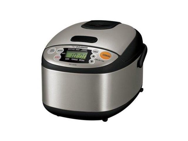 Zojirushi NSLAC05XT NS-LAC05 Micom 3-cup Rice Cooker/Warmer Stainless Steel Black