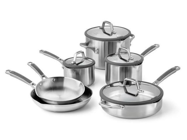 Calphalon 10-pc. Stainless Steel Simply Calphalon Easy System Cookware Set