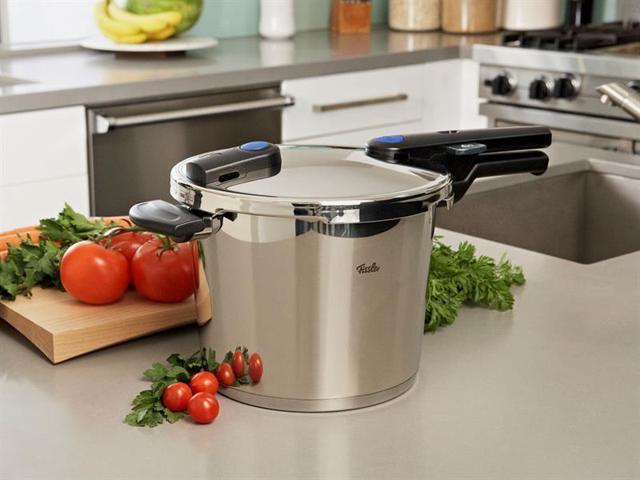 Fissler 6.4-qt. Vitaquick Pressure Cooker with Steamer Basket