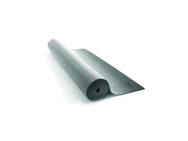 Zon Yoga Mat (Silver/Black, 24X68-Inch) - Yoga Mat 24X68