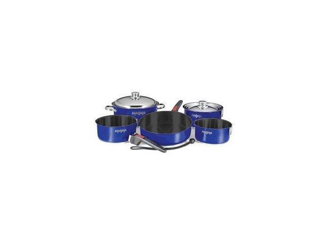 Magma Products, Inc. Magma Products Stainless Steel Nesting Non-Stick Cookware Set (10-Piece), Cobalt Blue - Magma Products, Inc.