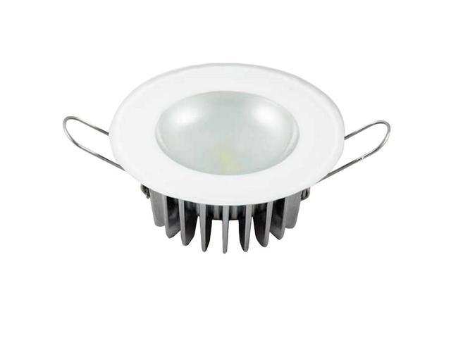 Lumitec Mirage Flush Mount Interior Down Light - Dimmable White - Glass Fixture/Polished Bezel - 3.25