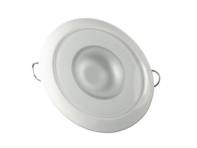 Lumitec Mirage Polished Flush Mount Down Dimmable Light White/Blue 113111