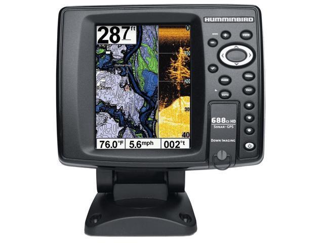 Humminbird 409460-1 688Ci Hd Di Internal Gps/Sonar Combo Fishfinder With Down Imaging