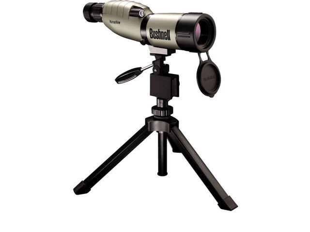 Bushnell Trophy XLT 20-60 x 65mm Porro Prism Waterproof/Fogproof Spotting Scope with Compact Tripod, Tan