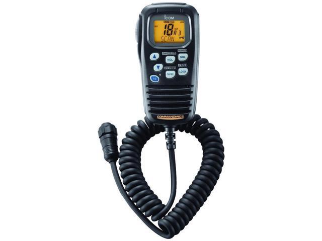 Icom Handheld VHF Radio Microphone Commandmicii Black