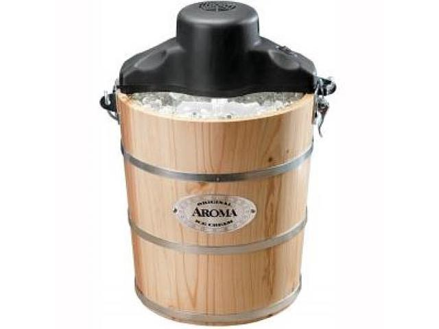 6-Quart Wood-Barrel Ice-Cream Maker