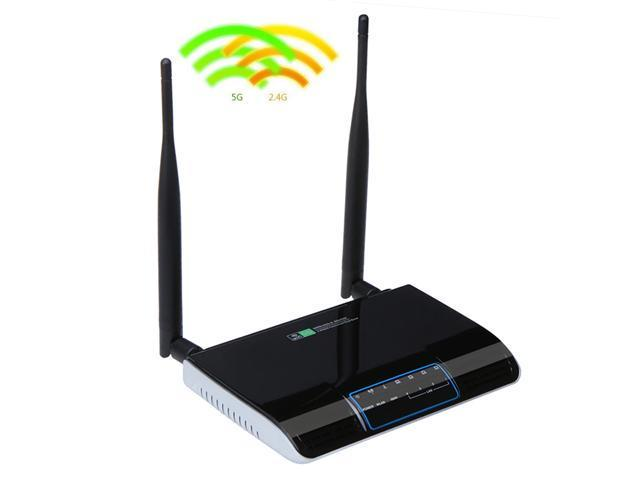 2.4GHz & 5GHz Concurrent Dual Band Wireless-N Router 300Mbps with 4-port LAN Switch (Integrated)