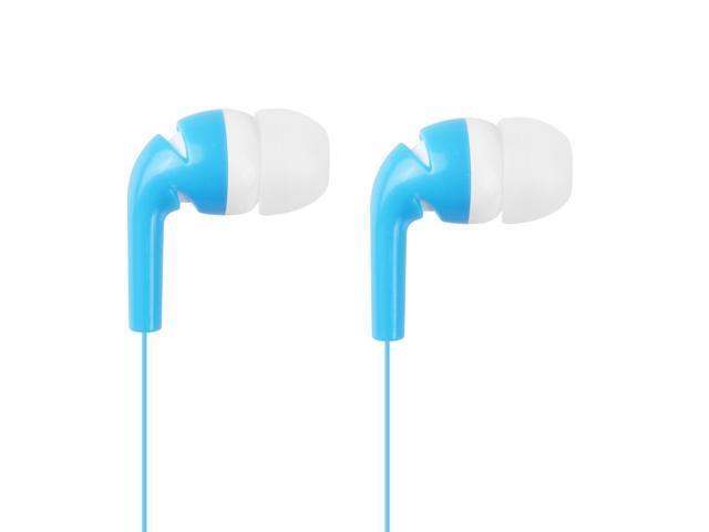 Stylish In-Ear Stereo Earphone Earbud Headphone for iPod iPhone MP3 MP4 Smartphone Blue & White