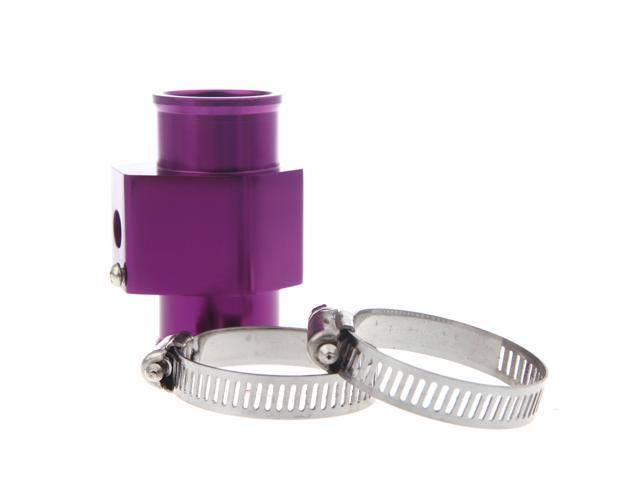 Water Temp Temperature Joint Pipe Sensor Gauge Radiator Hose Adapter 34mm Purple