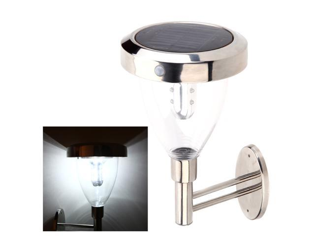 Rechargeable Solar Powered LED 3 Modes Outdoor Garden Stairway Wall Fixture with PIR Motion Light Sensor