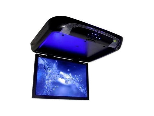 Tview T20dvfdbk 20 Black Widescreen Flip Down Tft Lcd Monitor W/ Dvd Player
