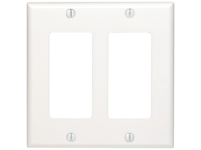UNION 80409W Residential-Grade D?cora(R) Wall Plates (Dual gang; White)