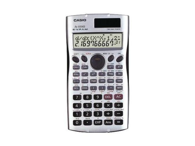 Casio FX115MS Scientific Calculator - 279 Functions - 2 Line(s) - 10 Character(s) - LCD - Solar Battery Powered - 0.5 x 3.1 x 6.1 ...