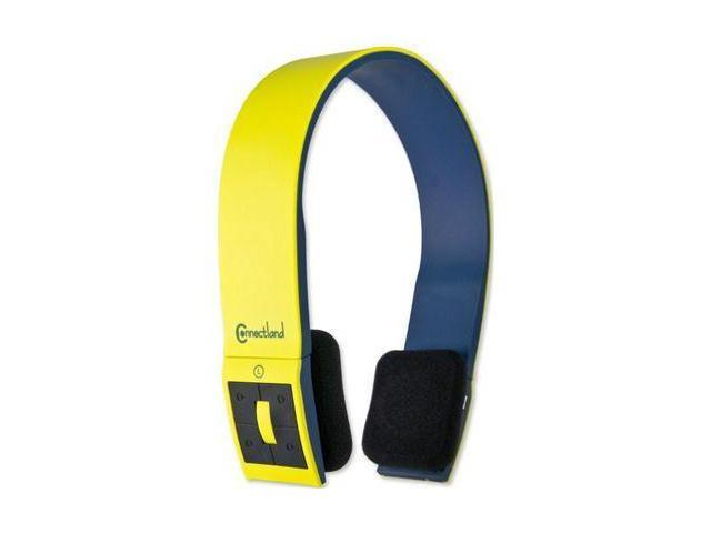 SYBA CL-AUD23038 Bluetooth v2.1 EDR Stereo Headset with Microphone Sleek and Modern Edge Design Color Yellow/Black