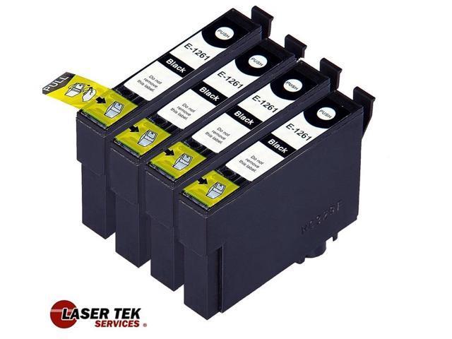 Laser Tek Services? 4 pack of Epson T126120 Black Replacement Ink Cartridges (T126 Black)