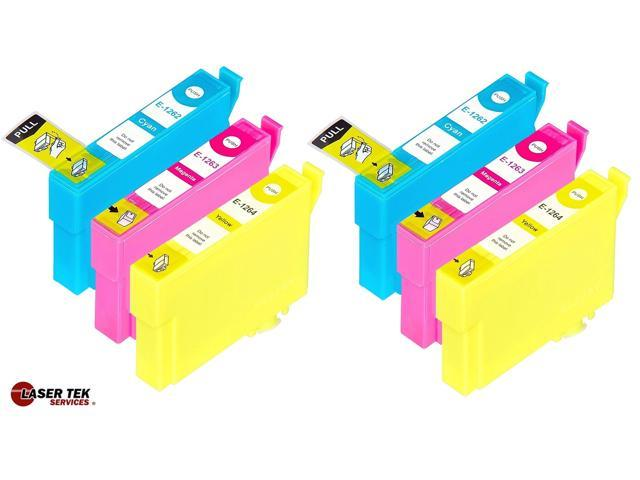 Laser Tek Services? 6 Pack of Epson T126 Replacement Ink Cartridges (2C, 2M, 2Y)