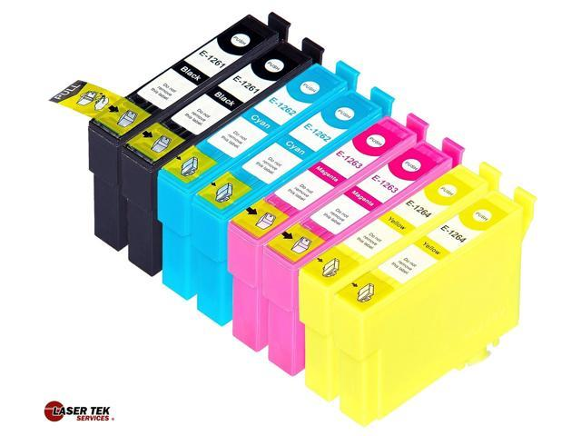 Laser Tek Services® 8 Pack of Epson T126 Replacement Ink Cartridges (2BK, 2C, 2M, 2Y)