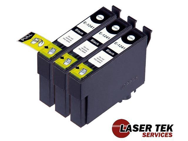 Laser Tek Services® 3 Pack of Epson T124120 / T124 Black Replacement Ink Cartridges