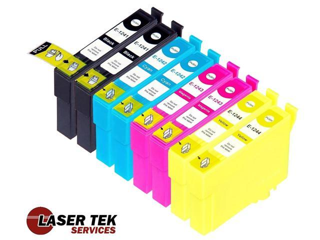Laser Tek Services® 8 Pack of Epson T124 Replacement Ink Cartridges (2BK, 2C, 2M, 2Y)