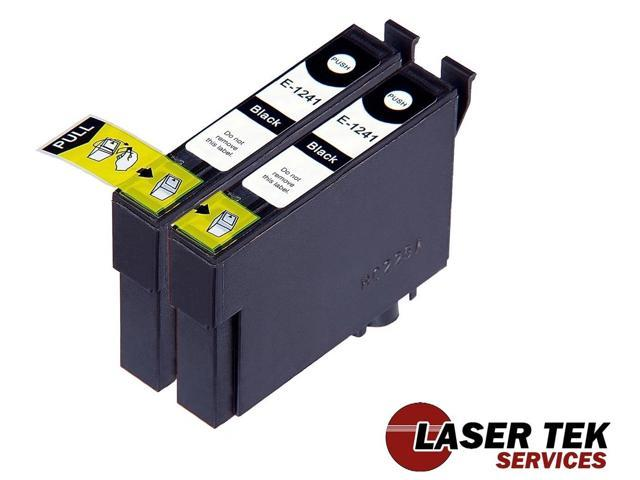 Laser Tek Services® 2 Pack of Epson T124120 / T124 Black Replacement Ink Cartridges