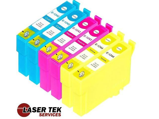 Laser Tek Services® 6 Pack of Epson T124 Replacement Ink Cartridges (2C, 2M, 2Y)