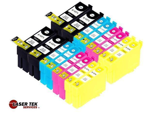 Laser Tek Services® 16 Pack of Epson T127 Replacement Ink Cartridges (4BK, 4C, 4M, 4Y)