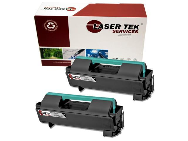 Laser Tek Services® 2 pack Xerox 106R01535 Black High Yield Remanufactured Replacement Toner Cartridges for the 4600