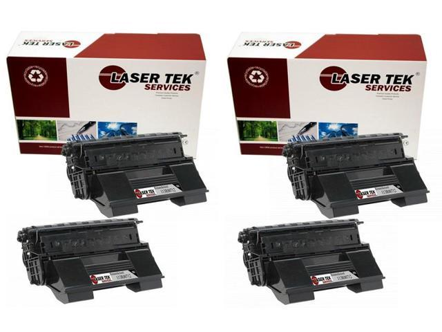 Laser Tek Services® 4PK Xerox 113R00712 Black High Yield Remanufactured Replacement Toner Cartridges for the 4510
