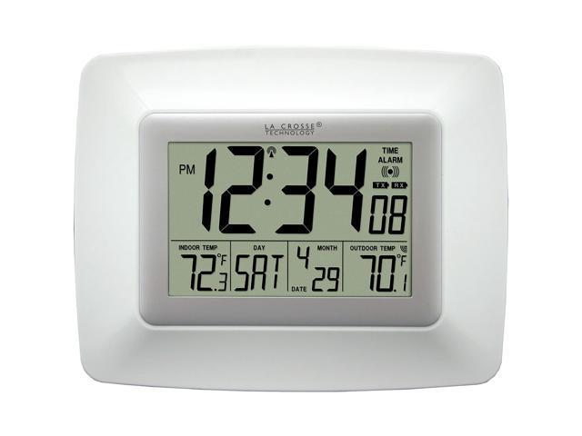 La Crosse Technology Ws-8119U-It-W Atomic Digital Clock With Wireless Out Temper