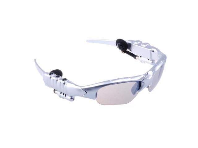 Patazon Bluetooth Sunglasses Stereo Headset Handfree For Mobile Devices - Silver