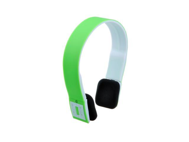 Wireless Bluetooth 3.0 Stereo Headset Headphone Earphone Handsfree for Smartphones, Tablets, and Desktops - Green