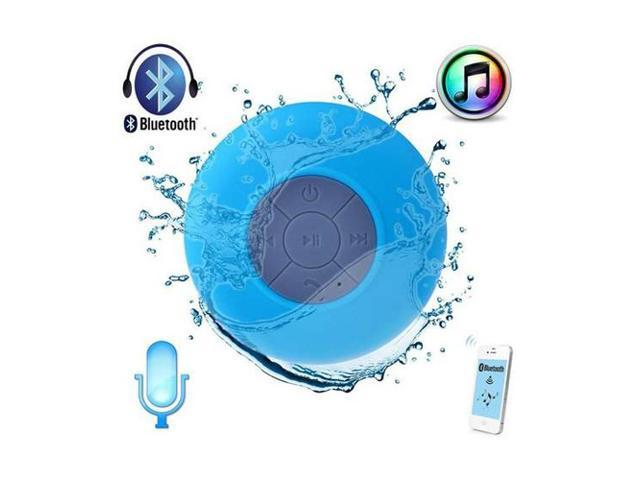 Mini Blue Waterproof Portable Wireless Bluetooth 3.0 A2DP Speaker 3W Shower Pool Car Handsfree with Microphone - 6 Hour Rechargeable Battery for ...
