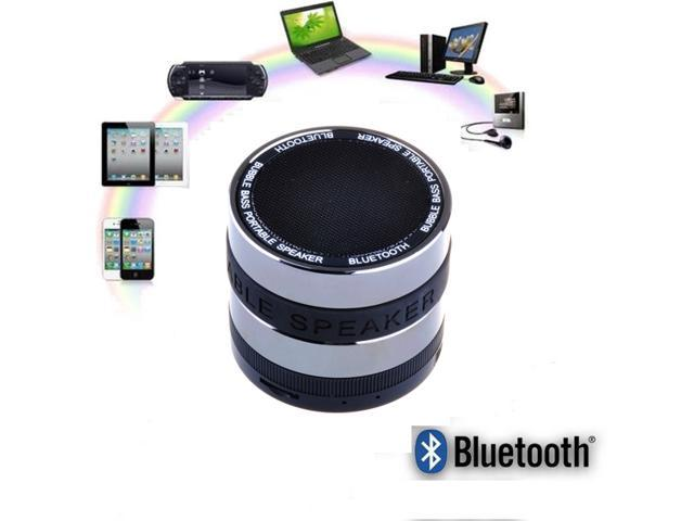 Black Hands-free Super Bass Portable Mini Wireless Bluetooth Speaker with TF Card Reader Function Built-in FM Radio 360°Volume Adjustment for ...