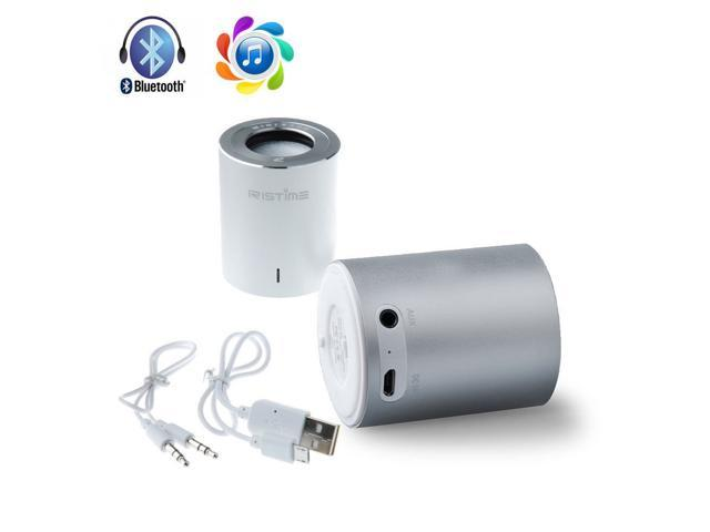 Silver Wireless Bluetooth Mini Bass Bluetooth Speaker For iPhone 4S/ 5/ 5S/ 5C, Samsung i9300/i9500/N7100/N7200 Galaxy S3/ S4/ Note 2/ Note 3, ...