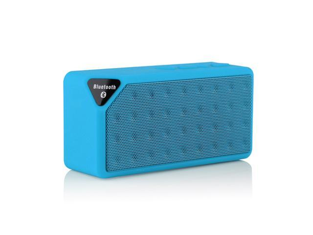 Blue Mini Portable Wireless Bluetooth A2DP Stereo Speaker Handsfree Speakers Support TF/USB For Apple iPhone 4S 5 5S 5G 5C iPad 2 3 4 iPod ...