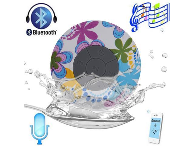 Mini Arabesquitic Waterproof Bluetooth 3.0 Speaker 3W Shower Pool Car Handsfree Speakers with Suction Cup For Apple iPhone 6 6 plus 4S 5 5S 5C ...