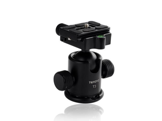 Metal Ballhead with Quick Release Plate for Tripod & Canon Nikon Sony DSLR Digital Cameras - Black