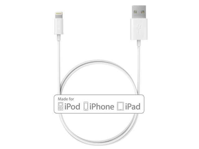 [Apple MFI Certified]White 8-pin Lightning to USB Charging and Sync Cable Cord for iPhone 6 Plus 6 5S 5, iPad Air, iPad mini, mini 2, ...