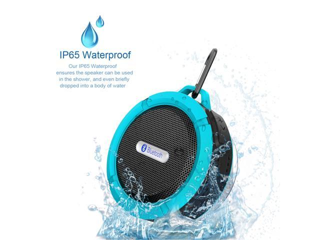 Blue Rechargeable Mini 5W Waterproof Shockproof Dustproof Bluetooth Wireless A2DP Stereo Bluetooth 3.0 Hands-free Speaker with Suction Cup and ...