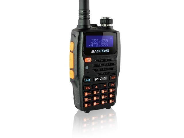 Baofeng 997-S GT Transceiver 65-108 / 136-174 / 400-520 MHz Dual-Band Two-Way Ham Radio (New RDA1846S Chipset)
