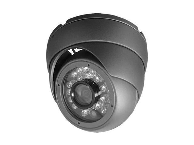 HQ-Cam? CCTV Security Surveillance Outdoor Pixel Plus Dome Camera, 960H 700TVL 24IR (Dark Gray)