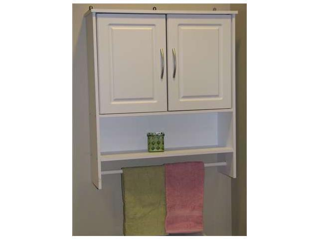 4D Concepts Bathroom 2 Door Wall Cabinet in White