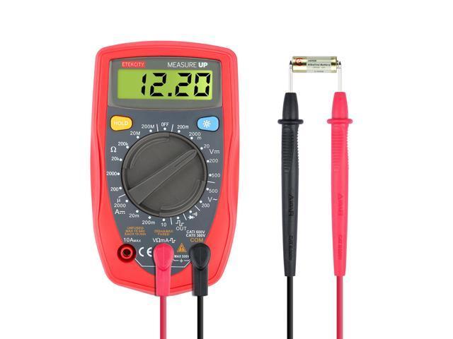 Etekcity MSR-R500 Digital Multimeter, Amp / Ohm / Volt Meter ...