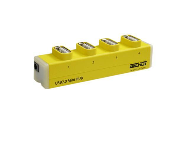 Seehot SH-H809 Hi-Speed USB 2.0 4-Port Hub-Yellow
