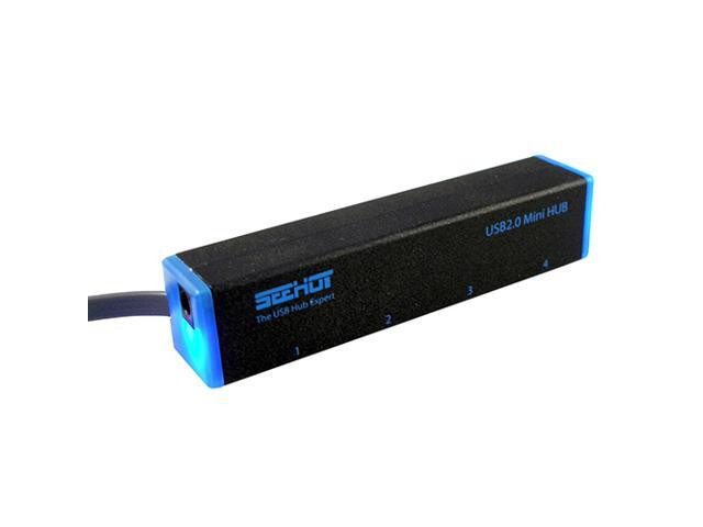 Seehot SH-H808 Hi-Speed USB 2.0 4-Port Hub-Black