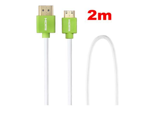 FORDIGI (Green)High Speed Gold Plated HDMI to Mini HDMI Cable with Ethernet length = 6ft