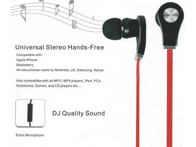 SUNYEE (Red) New Earphones Headsets headphones with Remote, Mic-phone Fit For iPhone 5S 5C 5 4S 4 IPOD IPAD4 IPAD air ipad mini; Ipod ...